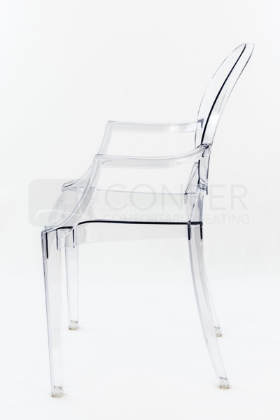 Ghost stolička transparentná